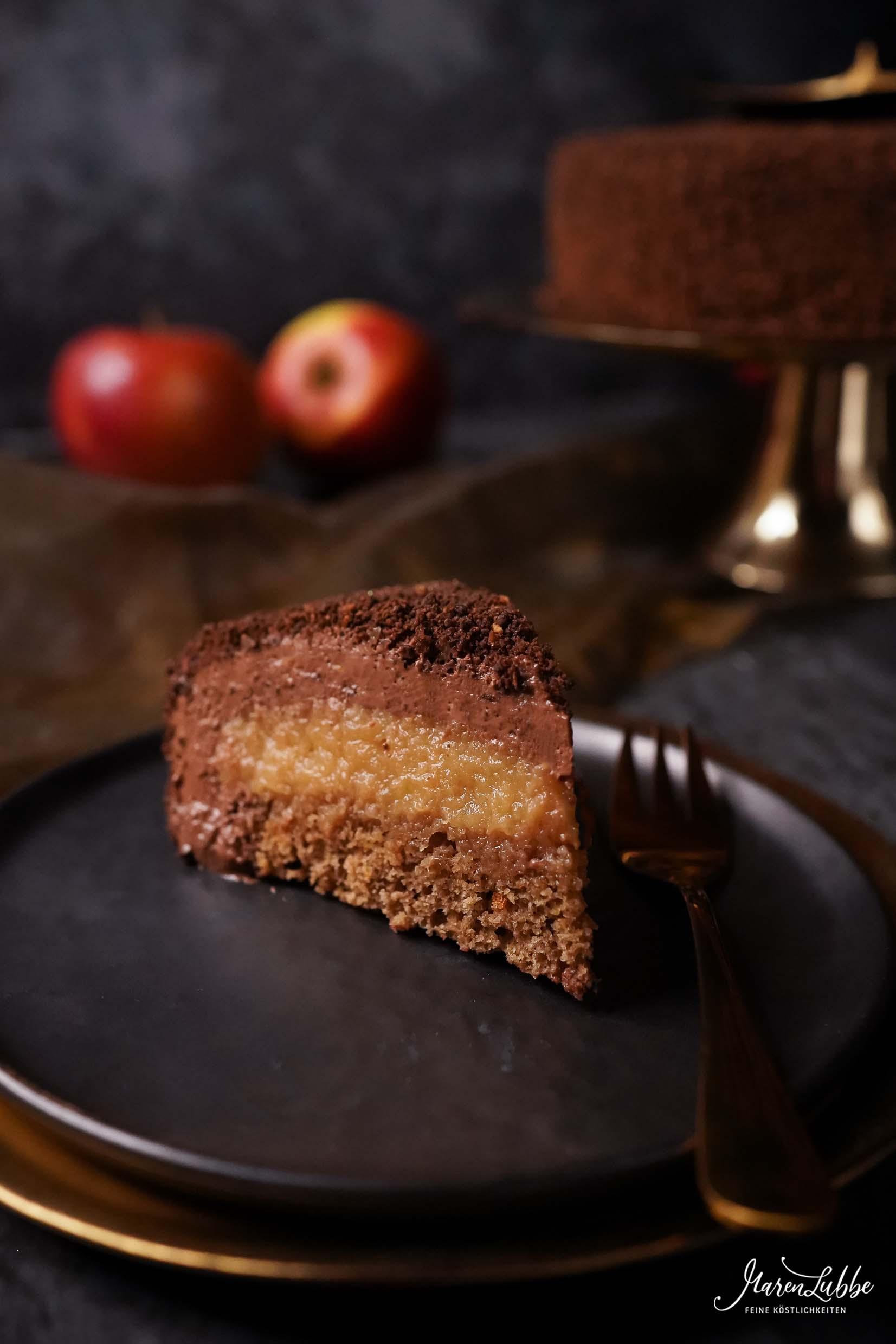Apfel-Zimt Schokoladentorte