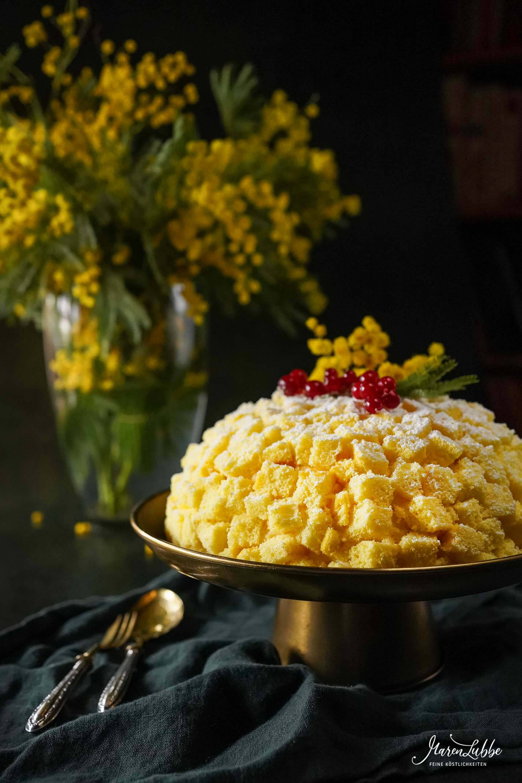 Torta Mimosa zum Weltfrauentag