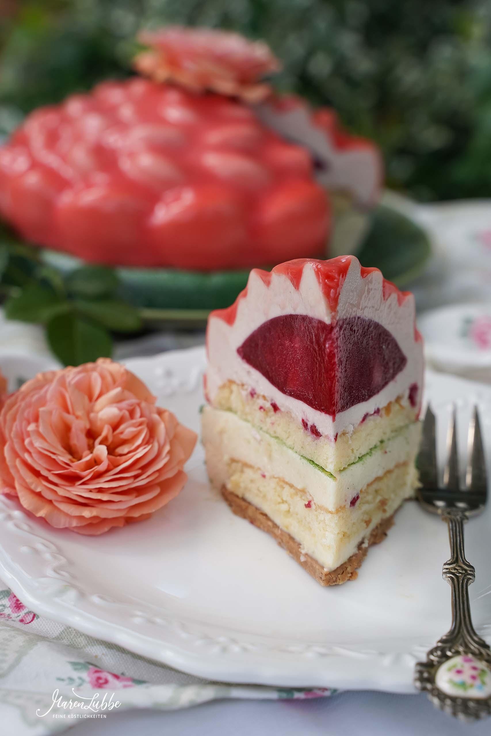 Peachy Rose Torte